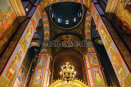 ancient mosaics golden screen icons saint