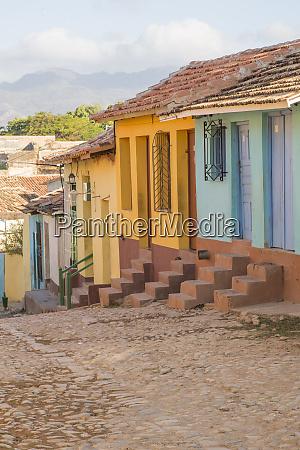 cuba trinidad cobblestone street trinidad and