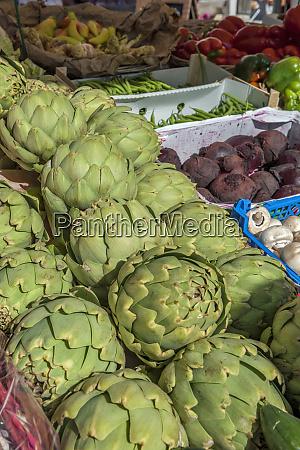 vegetables at outdoor market honfleur normandy