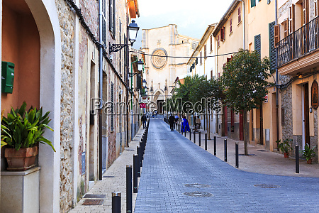 spain balearic islands mallorca main street