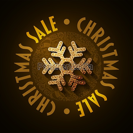 christmas sale graphic design template