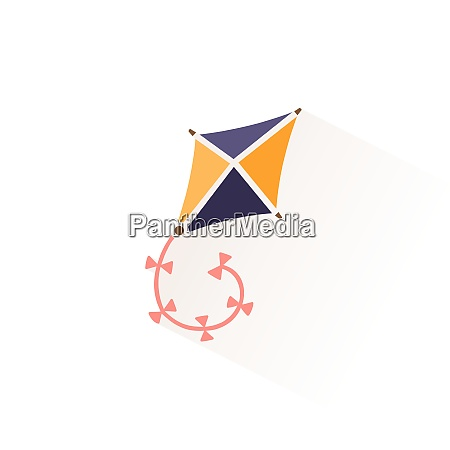 kite icon with shadow flat vector