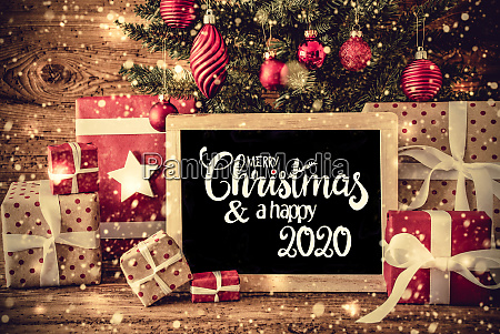 christmas tree present text merry christmas