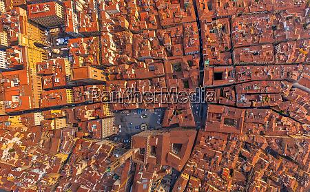 vista aerea sobre el centro historico