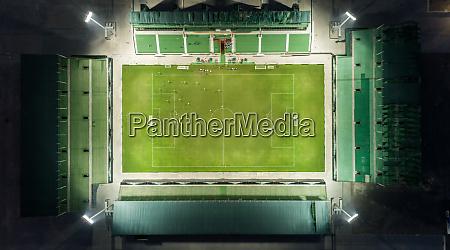 vista aerea del sevens stadium durante