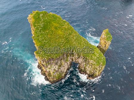 vista aerea de la formacion rocosa