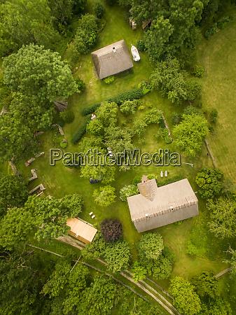 vista aerea de las casas tradicionales