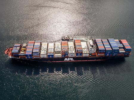 vista aerea de un barco de
