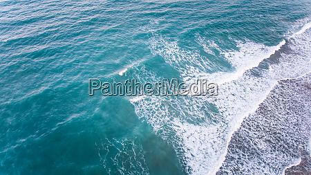 vista aerea del mar en brasil