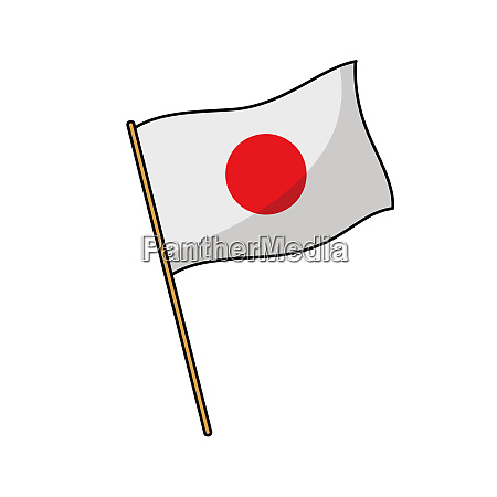 bandera, japonesa, nación, ilustración, cultura, eólica - 27488432