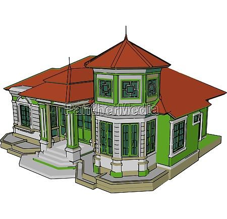 un vector de casa moderno convencional