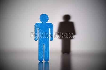 figura humana de genero masculino azul