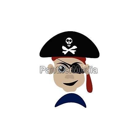 un peligroso vector pirata o ilustracion