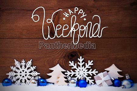 christmas tree blue ball snow calligraphy