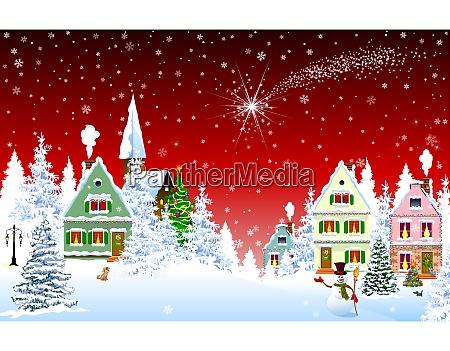 estrella de navidad en el cielo