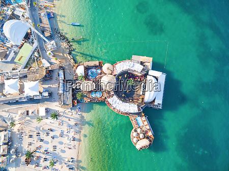 vista aerea de la playa y