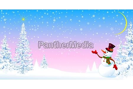 snowman da la bienvenida a navidad