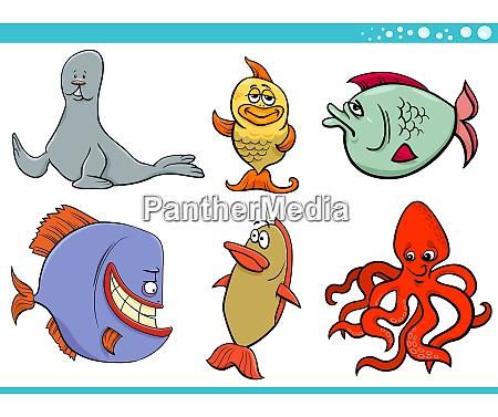 coleccion de personajes de especies animales