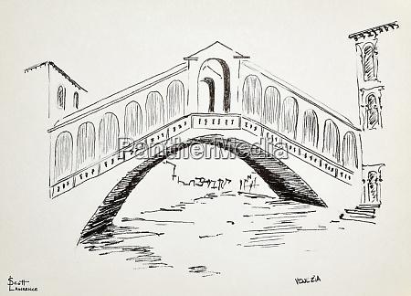 ponte di rialto en venecia italia