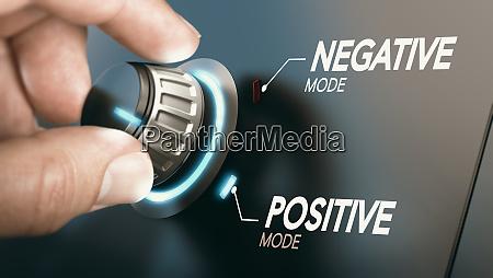 cambio a actitud positiva concepto de
