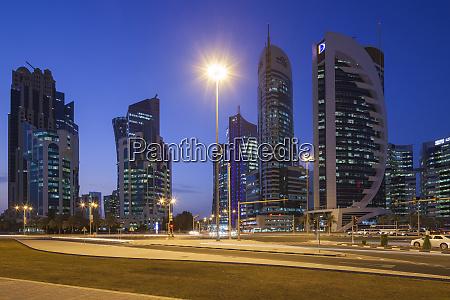qatar doha bahia de doha rascacielos