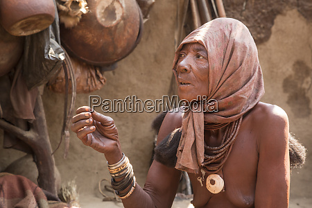 africa namibia opuwo elderly himba woman