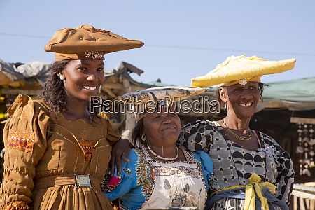 africa namibia portrait of three herero