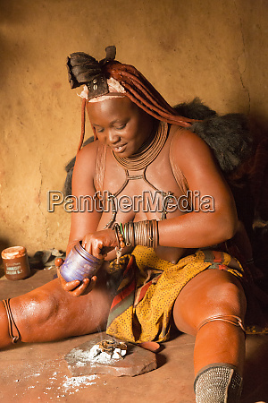 africa namibia a himba woman demonstrates