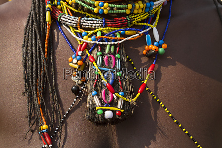 africa namibia zemba tribal decoration on