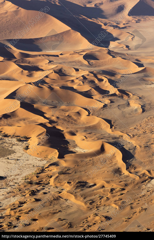 namibia, parque, namib-naukluft., aéreo, de, paisaje, desértico. - 27745409