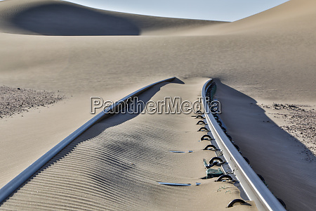 africa namibia garub railroad tracks and