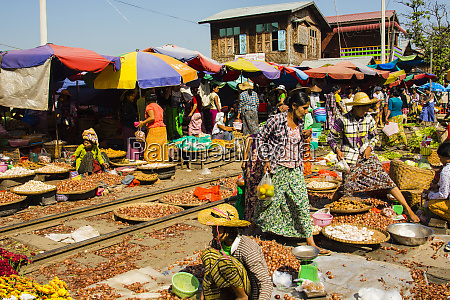 myanmar., mandalay., market, on, an, active - 27755074