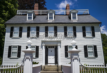 usa massachusetts salem ropes mansion 1727