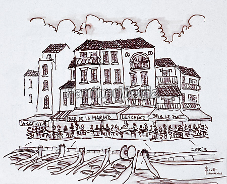 restaurants, line, the, waterfront, , cassis, , france - 27894602