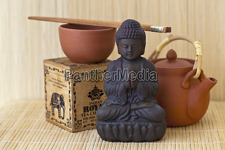 tea time naturaleza muerta estilo asia