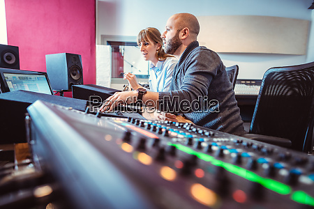 sound engineer and singer or musician