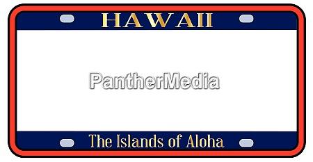matricula estatal de hawai en blanco