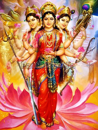 dios, saraswati, obra, espiritual, veena, santa - 28161516