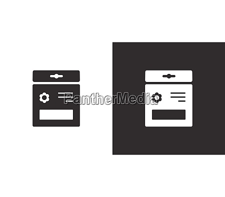 seed bag isolated icon on black