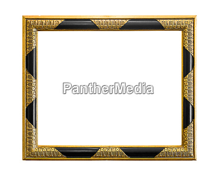 golden decorative picture frame with black