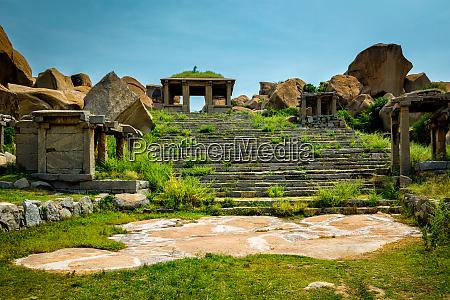 ruinas, antiguas, en, hampi, india - 28409911