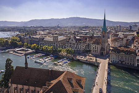 cityscape of zurich