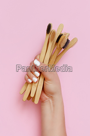 hand keeps eco friendly bamboo toothbrushes