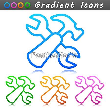 vector repair symbol icon design
