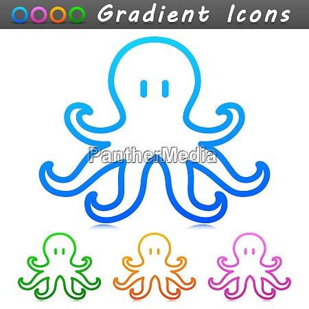 vector octopus symbol icon design