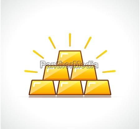 vector gold icon symbol design