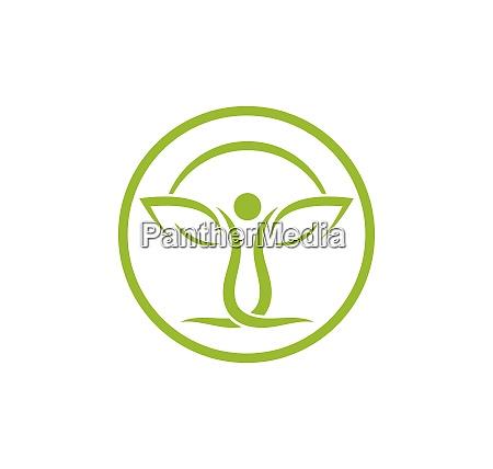 healthy life personas vector de plantilla