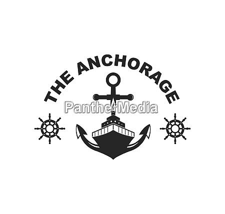 ilustracion de icono vectorial logotipo nautico