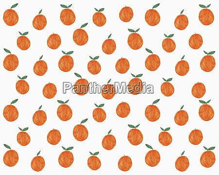 ilustracion de naranjas sobre fondo blanco