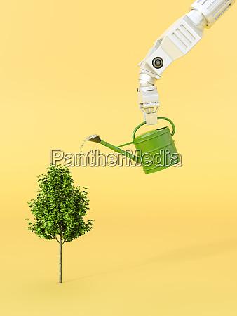 representacion tridimensional del arbol robotico de
